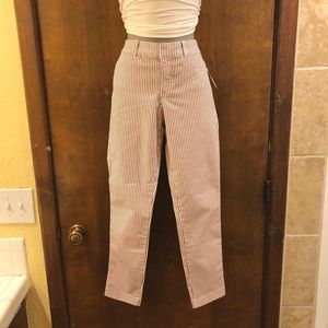 Old Navy Pixie striped chino pant. NWT size 4